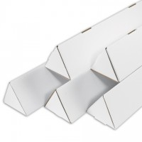 Mailing Tubes, Triangle, White, 3 x 24 1/4""