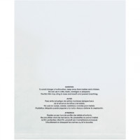 """Suffocation Warning Bags, 18 x 24"""", 1 Mil, Flat"""