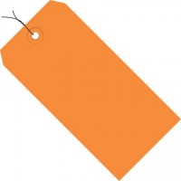 Orange Pre-wired Shipping Tags #1 - 2 3/4 x 1 3/8""