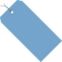 Dark Blue Pre-wired Shipping Tags #1 - 2 3/4 x 1 3/8""