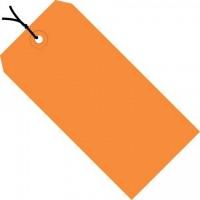 "Orange Pre-strung Shipping Tags #1 - 2 3/4 x 1 3/8"""