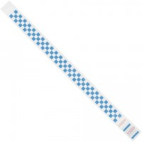 "Blue Checkerboard Tyvek® Wristbands, 3/4 x 10"""