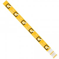 "Yellow ""Age Verified"" Tyvek® Wristbands, 3/4 x 10"""