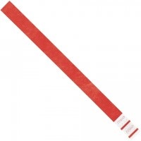 """Red Tyvek® Wristbands, 3/4 x 10"""""""