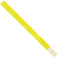 "Yellow Tyvek® Wristbands, 3/4 x 10"""