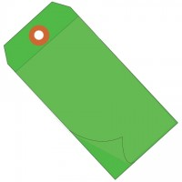 """Green Self-Laminating Tags - 6 1/4 x 3 1/8"""""""