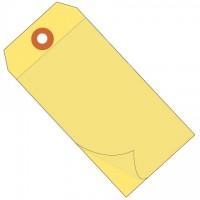 """Yellow Self-Laminating Tags - 4 3/4 x 2 3/8"""""""