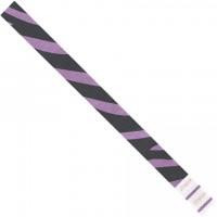 """Purple Zebra Stripe Tyvek® Wristbands, 3/4 x 10"""""""