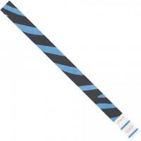 """Blue Zebra Stripe Tyvek® Wristbands, 3/4 x 10"""""""