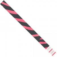 "Pink Zebra Stripe Tyvek® Wristbands, 3/4 x 10"""