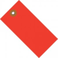 Red Tyvek® Shipping Tags #1 - 2 3/4 x 1 3/8""