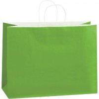 Citrus Green Tinted Paper Shopping Bags, Vogue - 16 x 6 x 12""