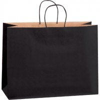 Black Tinted Paper Shopping Bags, Vogue - 16 x 6 x 12""