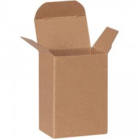 "Chipboard Boxes, Folding Cartons, Reverse Tuck, 2 x 1 1/4 x 3"", Kraft"