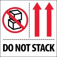 """International Safe Handling Labels -"""" Do Not Stack"""", 4 x 4"""""""