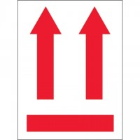 """International Safe Handling Labels - Red Up Arrows, 3 x 4"""""""