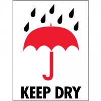 """International Safe Handling Labels -"""" Keep Dry"""", 3 x 4"""""""
