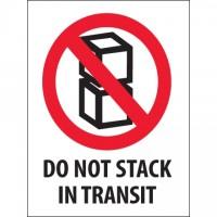 """International Safe Handling Labels -"""" Do Not Stack In Transit"""", 3 x 4"""""""