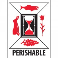 "International Safe Handling Labels -"" Perishable"", 3 x 4"""