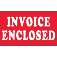 """ Invoice Enclosed"" Labels, 3 x 5"""