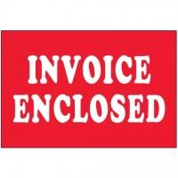 """ Invoice Enclosed"" Labels, 2 x 3"""