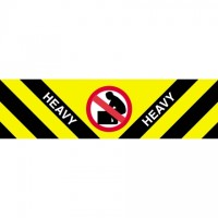 """"""" Heavy"""" Labels, 2 x 8"""""""