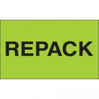 """ Repack"" Green Labels, 3 x 5"""