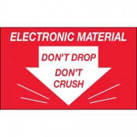 """"""" Don't Drop Don't Crush - Electronic Material"""" Labels, 3 x 5"""""""