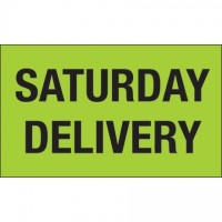 """ Saturday Delivery"" Green Labels, 3 x 5"""