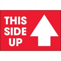 """ This Side Up"" Arrow Labels, 2 x 3"""