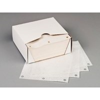 Three Hole Drilled Patty Paper Sheets, Waxed, 5 1/2 x 5 1/2""