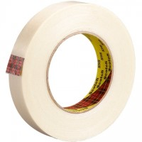 "3M 898 Clear Strapping Tape, 1/2"" x 60 yds., 6.6 Mil Thick"