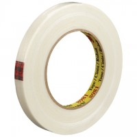 "3M 8981 Clear Strapping Tape, 1/2"" x 60 yds., 6.6 Mil Thick"