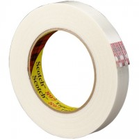 "3M 897 Clear Strapping Tape, 1/2"" x 60 yds., 6.0 Mil Thick"