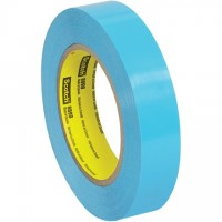 "3M 8898 Blue Strapping Tape, 1"" x 60 yds., 4.6 Mil Thick"