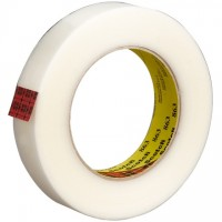 "3M 863 Clear Strapping Tape, 1/2"" x 60 yds., 5.0 Mil Thick"