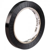 "3M 860 Black Strapping Tape, 1/2"" x 60 yds., 2.8 Mil Thick"
