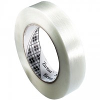 "3M 8934 Clear Strapping Tape, 1/2"" x 60 yds., 4.0 Mil Thick"