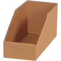 "Kraft Corrugated Bin Boxes, 4 x 9 x 4 1/2"""