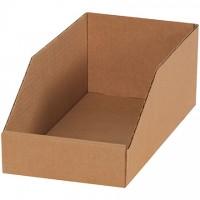 "Kraft Corrugated Bin Boxes, 6 x 9 x 4 1/2"""