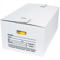 Interlocking Flap File Storage Boxes, 24 x 15 x 10""
