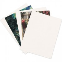 "White Chipboard Pads - 0.022"" Thick, 8 1/2 x 11"""