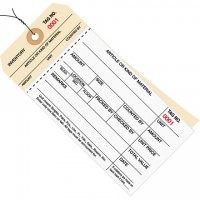 Pre-Wired Inventory Tags - 2-Part Carbonless Stub Style (0000-0499), 6 1/4 x 3 1/8""