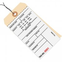 """Pre-Wired Inventory Tags - 2-Part Carbonless (7000-7499), 6 1/4 x 3 1/8"""""""