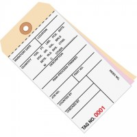 Inventory Tags - 3-Part Carbonless (3000-3499), 6 1/4 x 3 1/8""