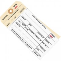 Inventory Tags - 2-Part Carbonless Stub Style (1000-1499), 6 1/4 x 3 1/8""