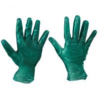 Powdered Vinyl Gloves - Green - 6.5 Mil - Large