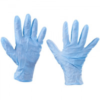 Blue Nitrile Gloves - 6 Mil - Powdered, Small