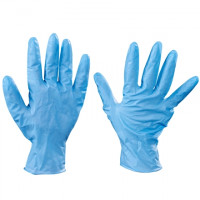 Blue Nitrile Gloves - 8 Mil - Small