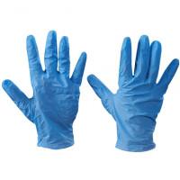 Powdered Vinyl Gloves - Blue - 5 Mil - Large